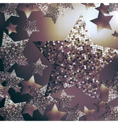 Christmas stars background vector image vector image