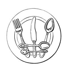 crown on a plate vector image vector image