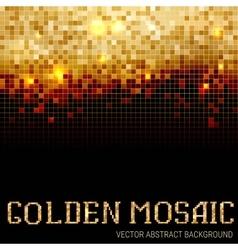 Shining abstract dark mosaic background vector image vector image