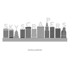 skyscrapers simple cartoon picture for design vector image vector image