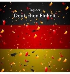 Day of German unity design Tag der deutschen vector image