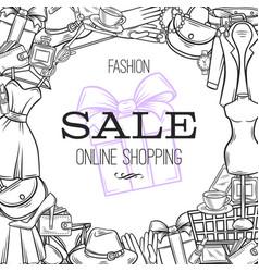 fashion online shop vector image vector image