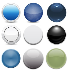 Set of 9 Button Styles vector image vector image