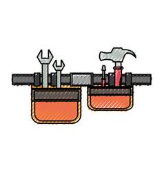 tool belt vector image vector image