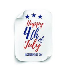 4th july background american independence day vector image