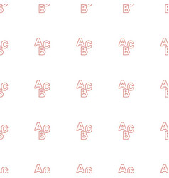 abc icon pattern seamless white background vector image