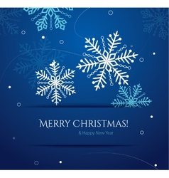 Abstract Christmas card with snowflakes vector image