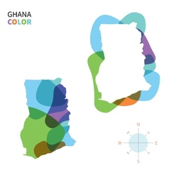 Abstract color map of Ghana vector image