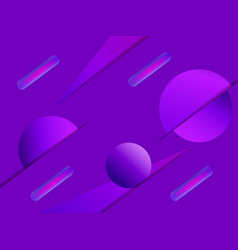 abstract geometric shapes on a purple background vector image