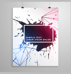 abstract ink drop flyer poster template vector image