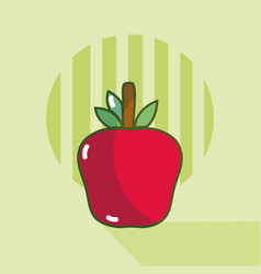 apple food cartoon vector image