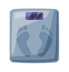 bathroom floor scales weight measure equipment vector image