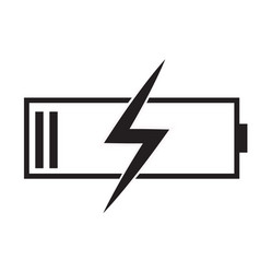 battery charging icon on white background flat vector image