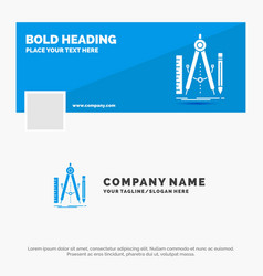 Blue business logo template for build design vector