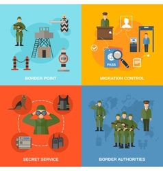 Border Guard Flat vector
