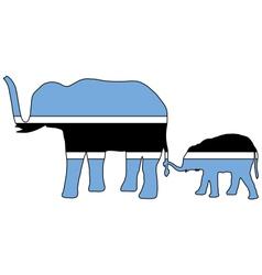 Botswana elephants vector