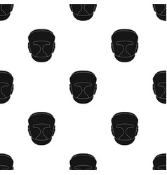 Boxing helmet icon in black style isolated on vector
