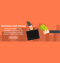 business and money banner horizontal concept vector image