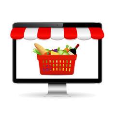 buy food online online shopping concept vector image