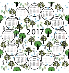 Calendar 2017 year abstract vector image