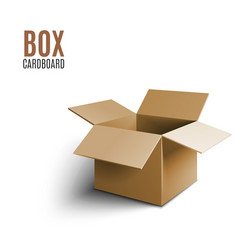 cardboard box icon 3d isolated on white background vector image