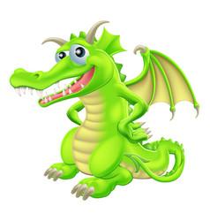 Cartoon standing dragon vector