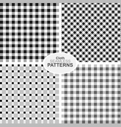 Collection of seamless textile patterns vector