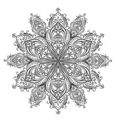Coloring mandala vector