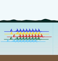 Competitions in rowing vector