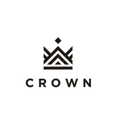 crown throne king queen prince luxury royal logo vector image