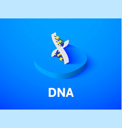 Dna isometric icon isolated on color background vector