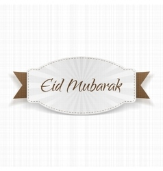 Eid Mubarak festive Label with Ribbon vector