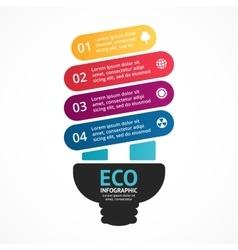Energy efficient light bulb arrows green vector