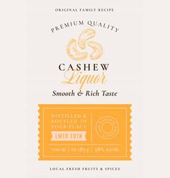 family recipe cashew nuts liquor acohol label vector image