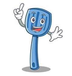 finger spatula character cartoon style vector image