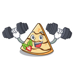 Fitness crepe character cartoon style vector