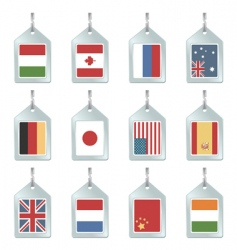 Flag key fobs vector