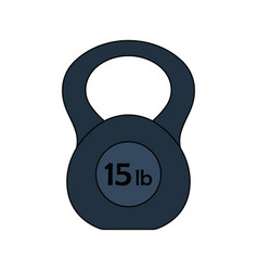 flat design icon of kettlebell vector image