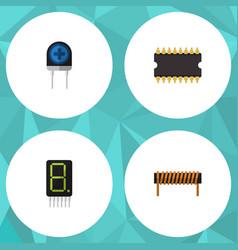 Flat icon technology set of bobbin display vector