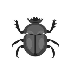 Flat style of scarab beetle vector