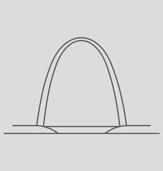 Gateway Arch vector image