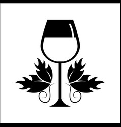 Glass of wine icon stock vector