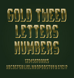 gold tweed letters numbers dollar and euro vector image