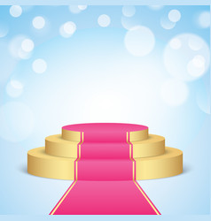 Golden stage with pink carpet vector