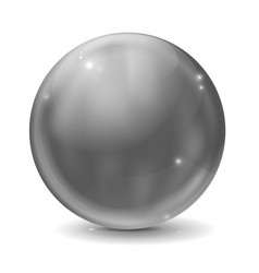 Graphite gray glass ball shiny sphere vector