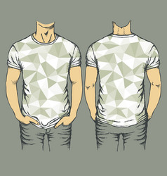 gray t-shirts templates vector image