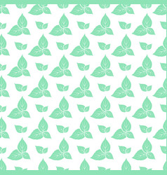 Green leaves of fresh mint seamless pattern vector