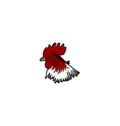 head chicken rooster logo designs inspiration vector image
