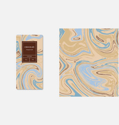 Hocolate packaging marble marble collection vector