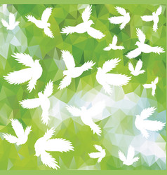 Holy birds dove seamless pattern vector